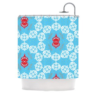 Frosted by Miranda Mol Holiday Single Shower Curtain By East Urban Home