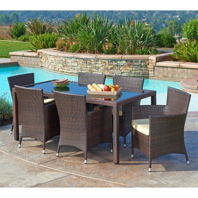 Cassidy 7 Piece Dining Set With Cushions by Mistana Find