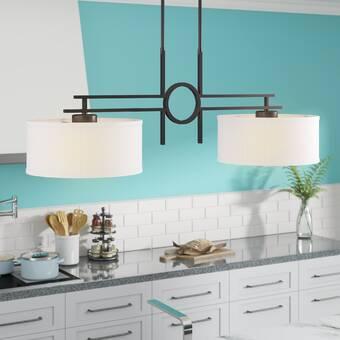 Gracie Oaks Kursat 3 Light Kitchen Island Linear Pendant Wayfair