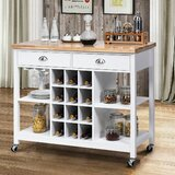 Gloriann Rolling Kitchen Cart by Latitude Run