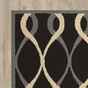 Affordable LaGuardia Hand-Tufted Black Area Rug ByWrought Studio