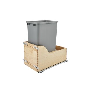 Rev-A-Shelf Plastic 12.5 Gallon Pul Out Trash Can