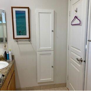 Bjrn Recessed Framed 2 Door Medicine Cabinet with 6 Adjustable Shelves