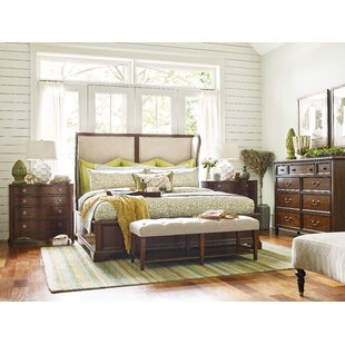 Rachael Ray Home Upstate Shelter Upholstered Sleigh Configurable Bedroom Set