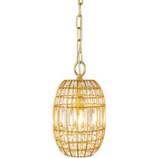 Lakefield 1-Light Crystal Pendant by House of Hampton