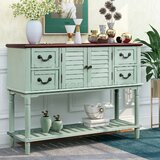 Dildy 49'' Solid Wood Console Table by Longshore Tides
