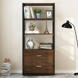America 4-Tier Standard Bookcase by 17 Stories
