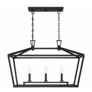 Best Reviews Israel 3-Light Kitchen Island Pendant By Gracie Oaks