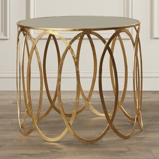 Rex Glass Top Drum End Table By Willa Arlo Interiors