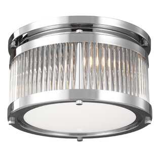 Best Price Bradninch 2-Light Flush Mount By Wade Logan