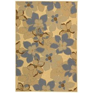 Short Natural Brown / Blue Woven Contemporary Rug