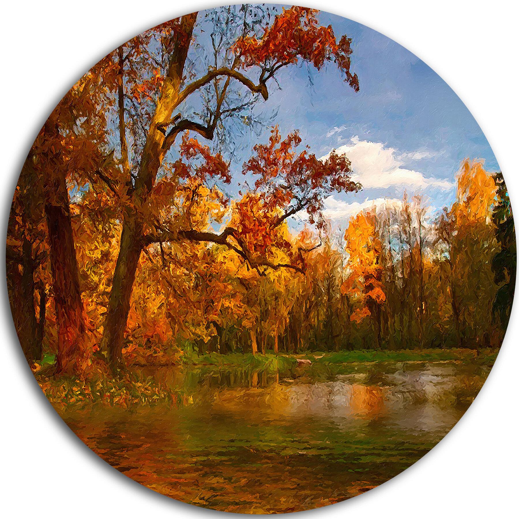 Designart Quiet And Silent Autumn Painting Print On Metal Wayfair