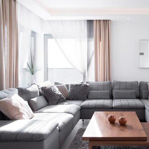 Grey Sectional Sofa And Coffee Table