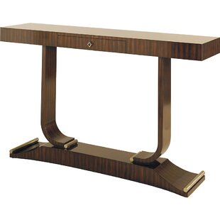 French Zebrano Veneer Console Table