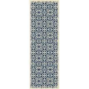 Hottinger Blue/White Indoor/Outdoor Area Rug