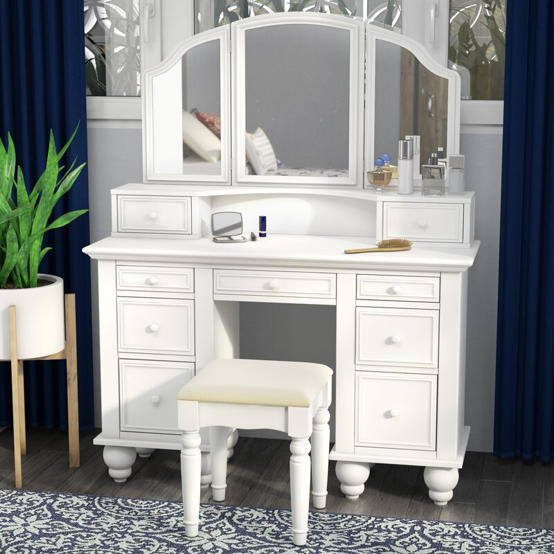 Darby Home Co Anthonyson Transitional Vanity Set With Mirror Reviews Wayfair