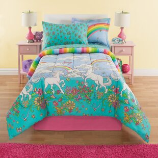 Fordham Unicorn Reversible Comforter Set by Zoomie Kids