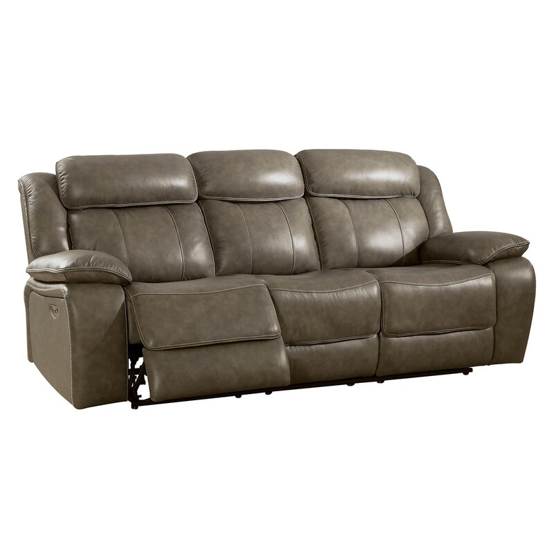 Heitzman Contemporary Sofa Leather Manual Wall Hugger Recliner