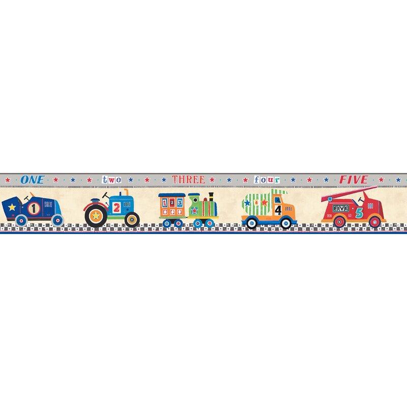 """Peek-a-Boo Cars 15' L x 9"""" W Wallpaper Border"""