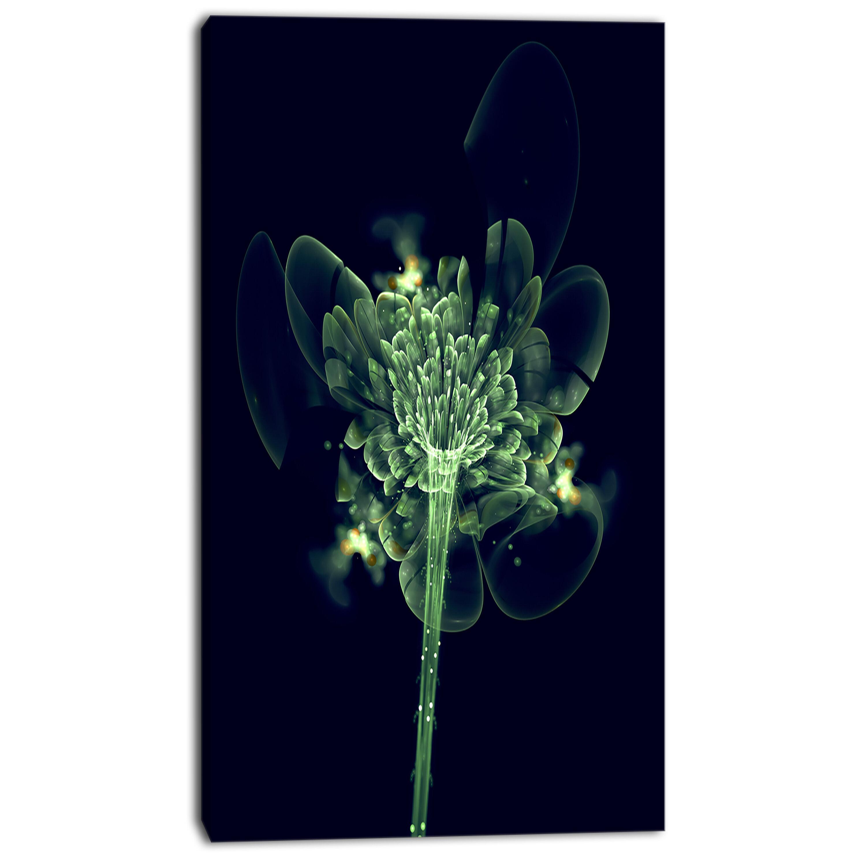 Designart Green Fractal Flower In Air Graphic Art On Wrapped Canvas Wayfair