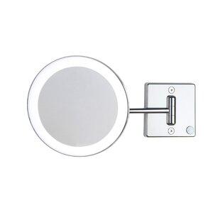 Great Price Discololed LED Lighted 3x Magnifying Makeup Mirror ByWS Bath Collections