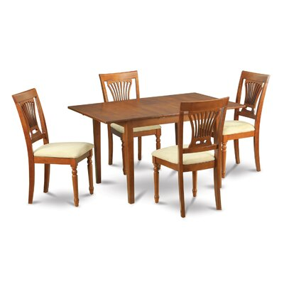 Red Barrel Studio Cartley Extendable Dining Set  Pieces Included: 5 Pieces: 1 Table, 4 Chairs
