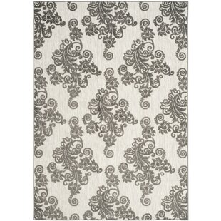 Brandonville Cream/Grey/Ivory Indoor/Outdoor Area Rug