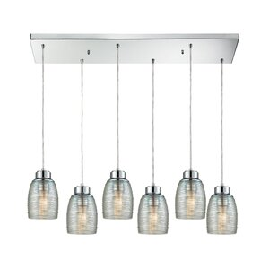 Snyder Rectangle 6-Light Cascade Pendant