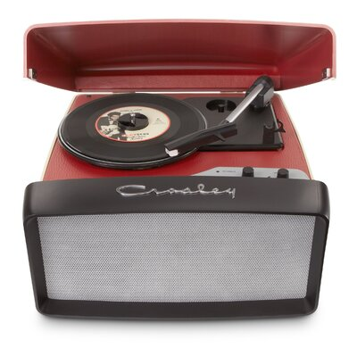Collegiate Portable USB Turntable Crosley Electronics Color: Red
