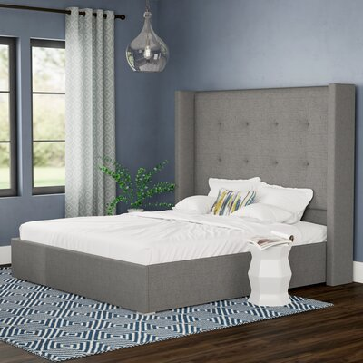Hansen Upholstered Standard Bed Color: White, Size: Queen
