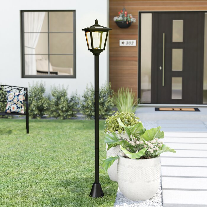 Lamotte Street Vintage Outdoor Garden 70 Led Solar Lamp Post