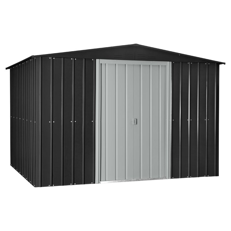 9 ft 8 in w x 7 ft 9 in d metal - Garden Sheds 7 X 9