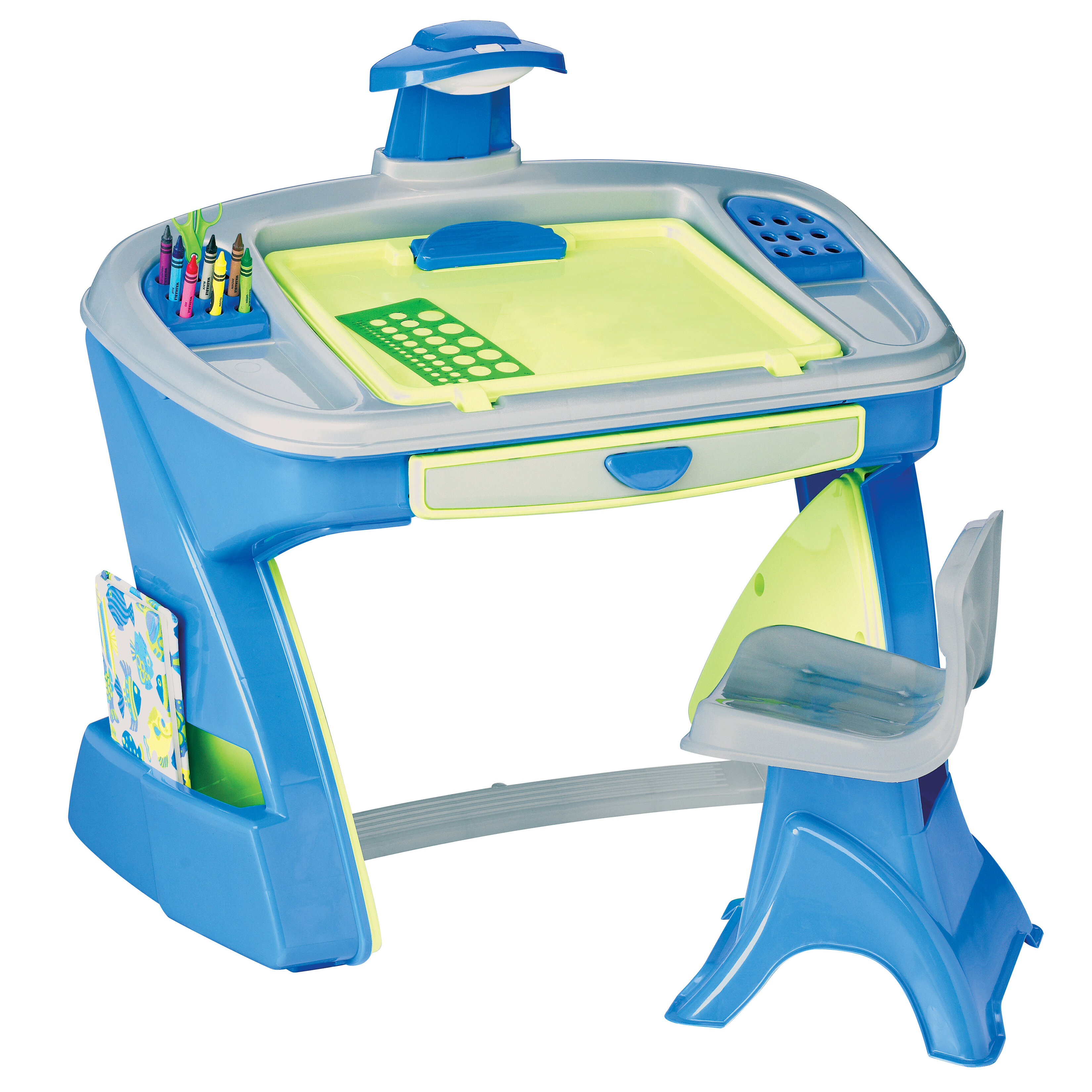 American Plastic Toys Creativity Desk and Easel Kids Table and Chair ...