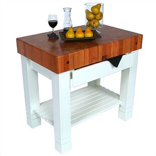American Heritage Prep Table with Butcher Block Top John Boos