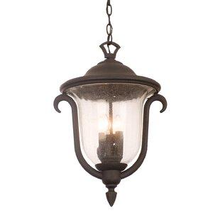 Kalco Santa Barbara 3-Light Outdoor Hanging Lantern