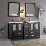 Karson 60 Double Bathroom Vanity Set with Mirror by Wade Logan®