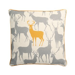 Worden Reindeer Throw Pillow