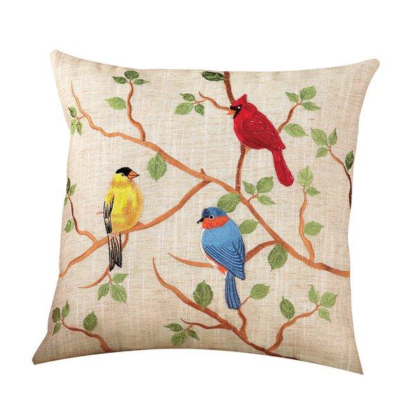 Bird Embroidered Pillow Wayfair