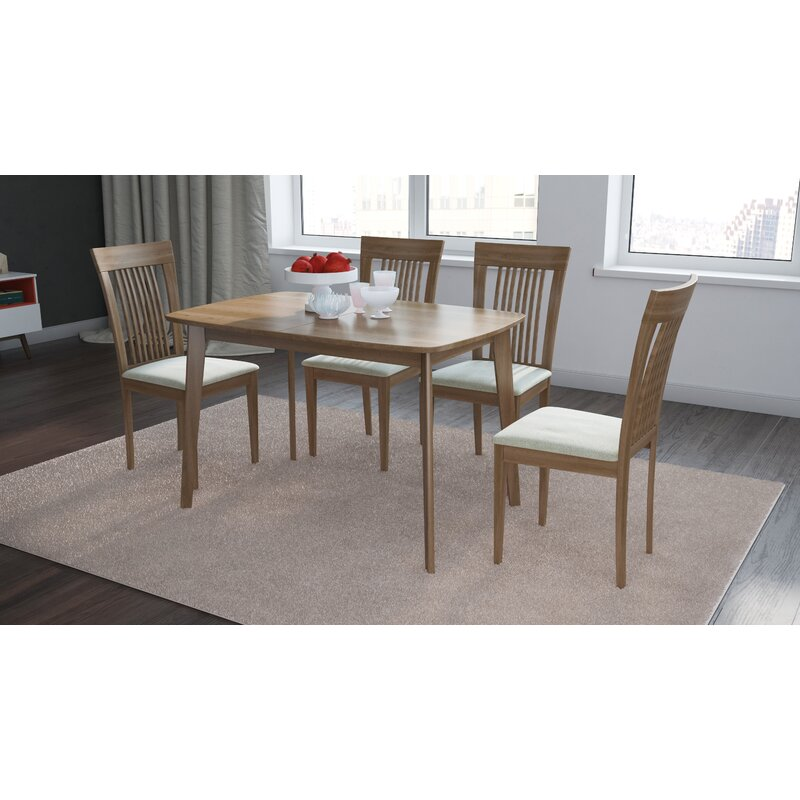Dayton Extendable Solid Wood Dining Table