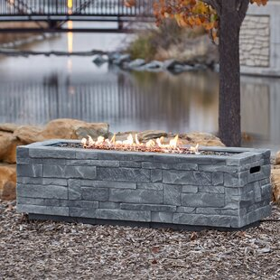 Real Flame Ledgestone Concrete Propane/Natural Gas Fire Pit