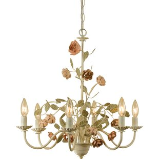 Lark Manor Shakia 6-Light Candle-Style Chandelier