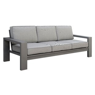 Sagers Contemporary Patio Sofa with Cushions by Brayden Studio