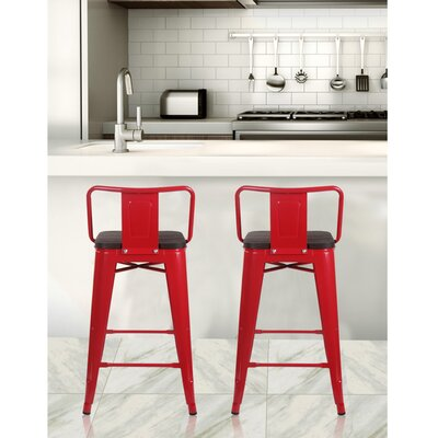 Grey Low Back Bar Stools You Ll Love In 2019 Wayfair