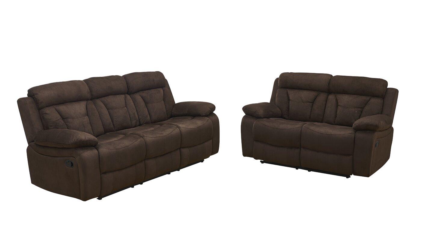 Red Barrel Studio Contrast Reclining Configurable Living Room Set