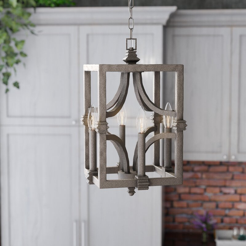Laurel foundry modern farmhouse freeburg 4 light foyer pendant freeburg 4 light foyer pendant aloadofball Images