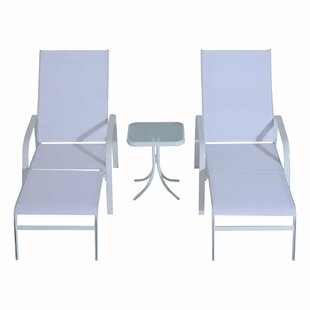 Seaman Outdoor Sun Lounger Set with Table