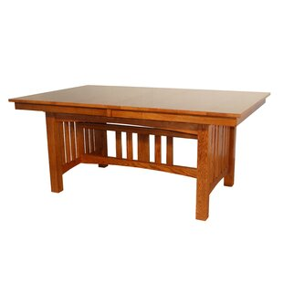 Jere Solid Oak Mission Solid Wood Dining Table Red Barrel Studio