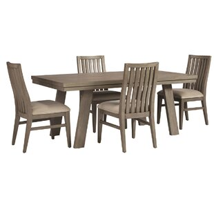 Pingree 5 Piece Solid Wood Dining Set