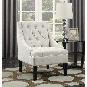 button arm chair