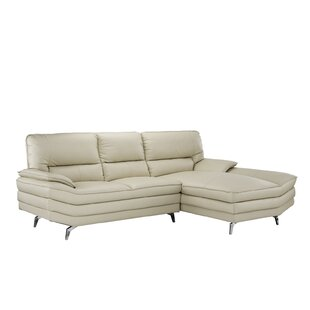 Ringwood Leather Sectional by Orren Ellis Best #1